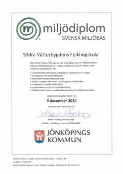 Diplom för Svfs klimat- & miljöpåverkan